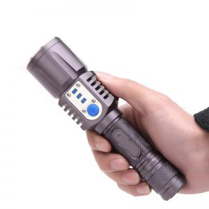 3800Lumens Ultra Bright USB 4 Modes Survival Whistle Rechargeable LED Flashlight Unique Appearance Tactical Flashlight
