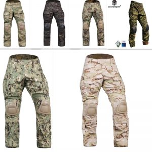 Emersongear G3 Combat Pants With Knee Pads stretch stitching design Water-resistant Training Pants Airsoft Tactical Gear Trouser