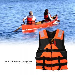 Lixada Outdoor Adult Lifesaving Life Jacket Vest Swimming Marine Life Jackets Safety Survival Suit Aid for Water Sport Fishing